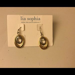 Lia Sophia Jewelry - Lia Sophia Gold Silver Tone Crystal dangle earring